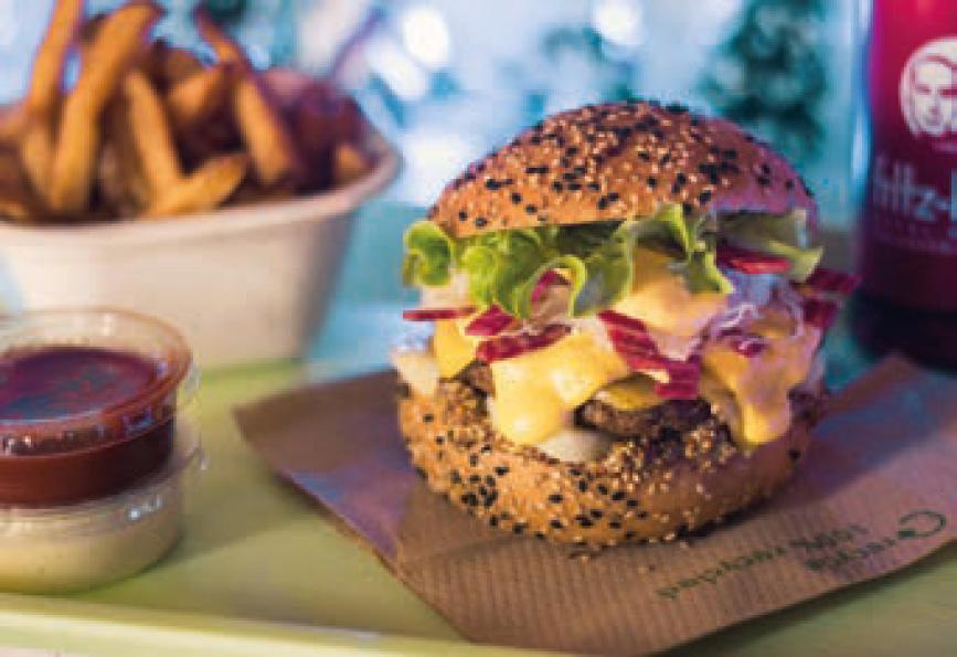 L'un des burgers 100 % végétaux proposés par ce concept prometteur. DR