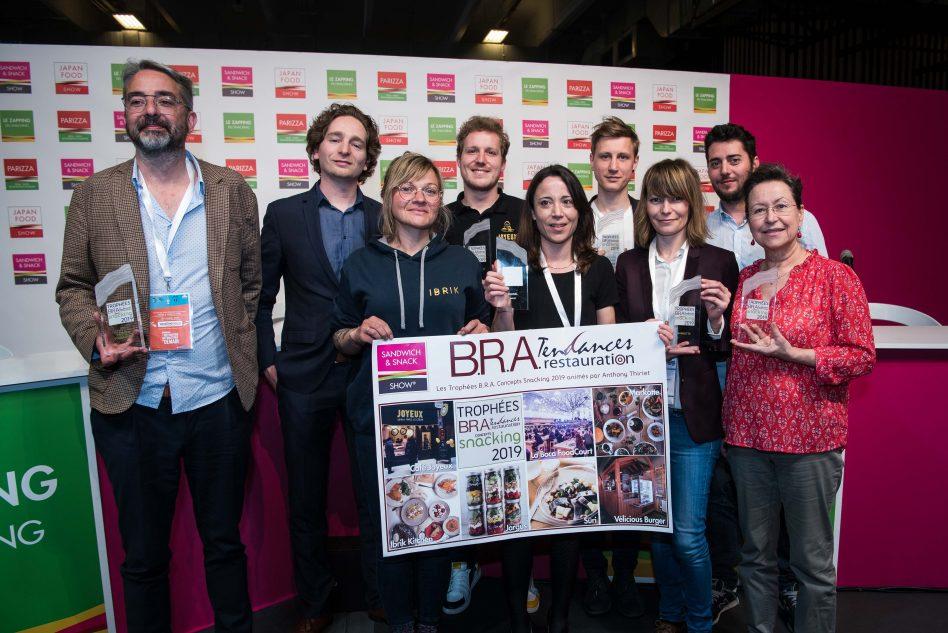 Les lauréats des Trophées B.R.A. Concepts Snacking 2019 - ©Nora Houguenade