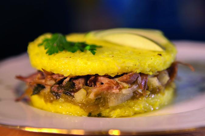 Rice Burger Gersois : confit de canard, confiture de piments doux. DR