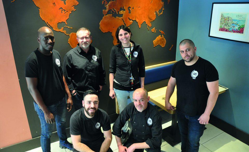 Une partie de l'équipe d'Oscar Caroll, qui compte 12 employés au total. ©A. Thiriet