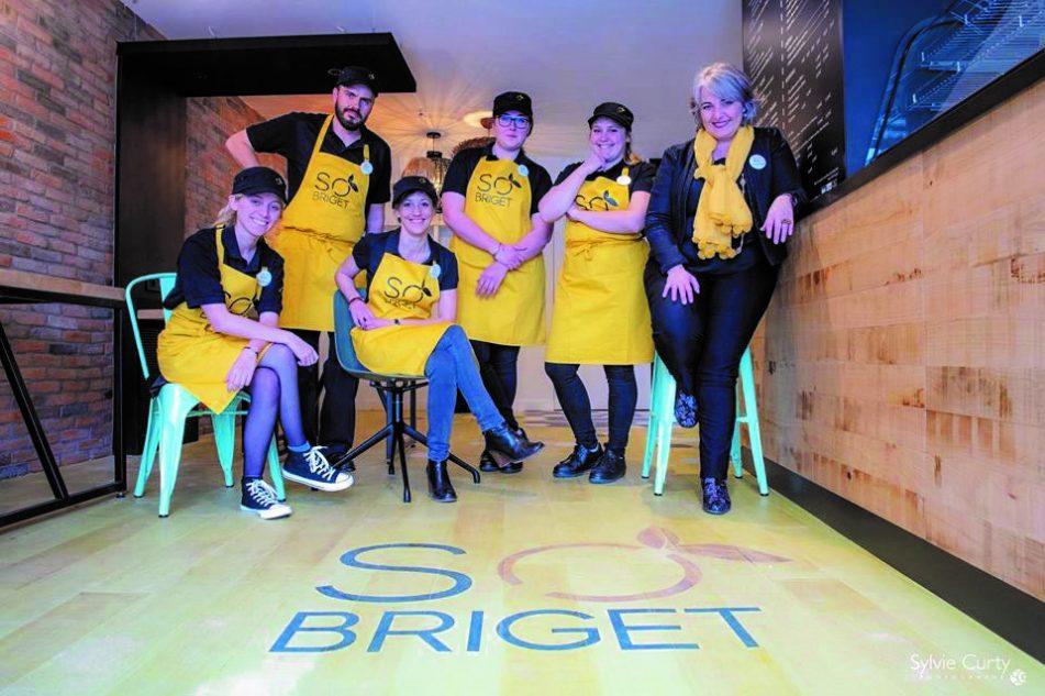 L'équipe de So Bridget, dont la fondatrice Marie-Hélène Meccoli (à droite). © S. Curty