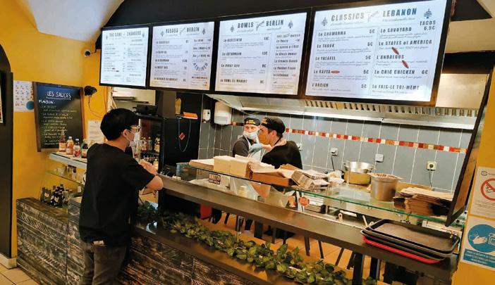 Depuis juin, les kebabs «à la berlinoise » boostent l'activité de ce restaurant rapide lyonnais. ©M. Buland