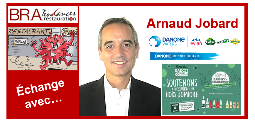 Arnaud Jobard, VP directeur commercial de Danone Eaux France
