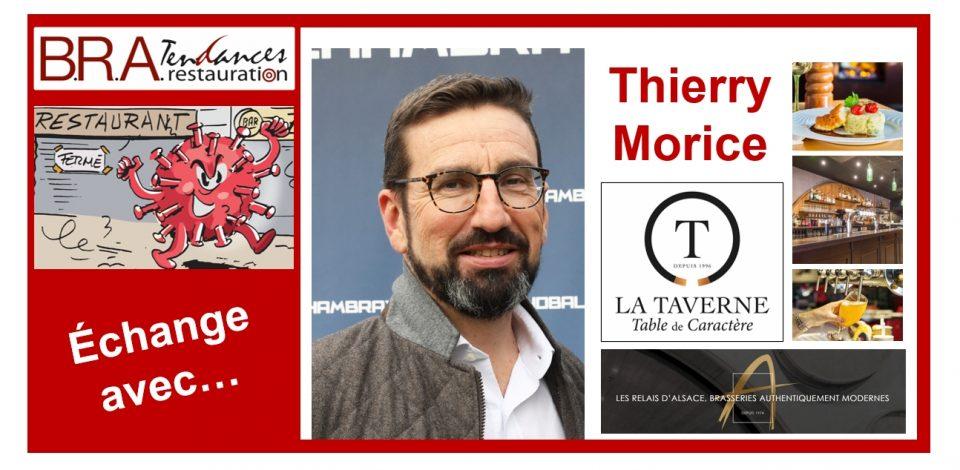 Thierry Morice, président du Groupement des Taverniers Réunis