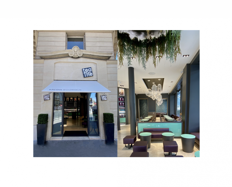 Le concept Tea by Thé a été modernisé à l'occasion de son déménagement en juillet 2020 dans un vaste local bien situé, près de l'Opéra à Paris.