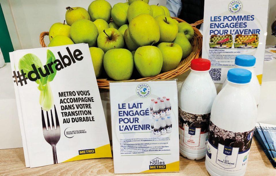 Metro France présentait la démarche « Engagé pour l'avenir » mise en place sur ses MDD (voir ci-dessous). Photos © A. Thiriet